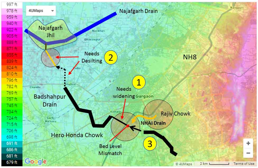 Gurugram topography