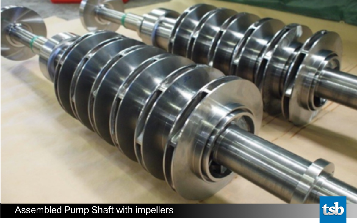 Pump Shaft with impellers