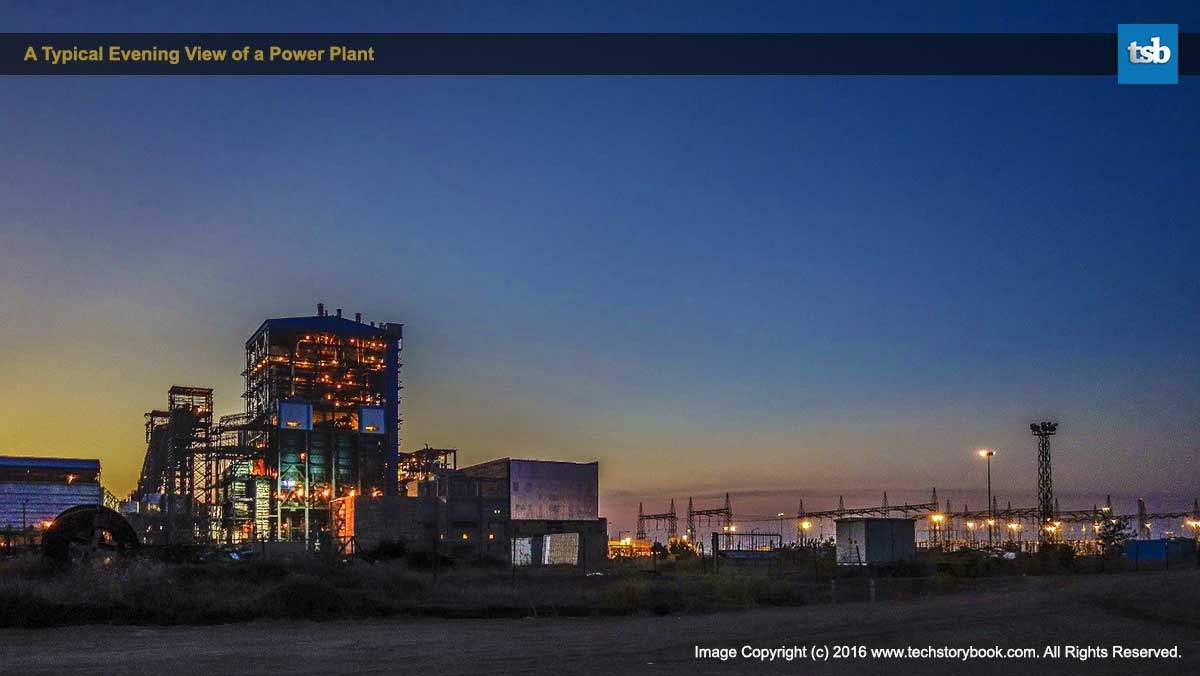 Typical Evening View Power Plant